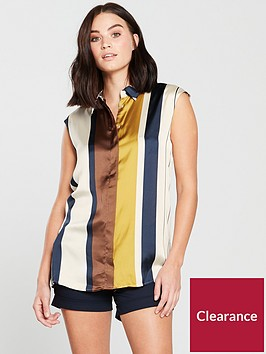 mango-sleeveless-blouse--nbspmulti-colour-stripenbsp