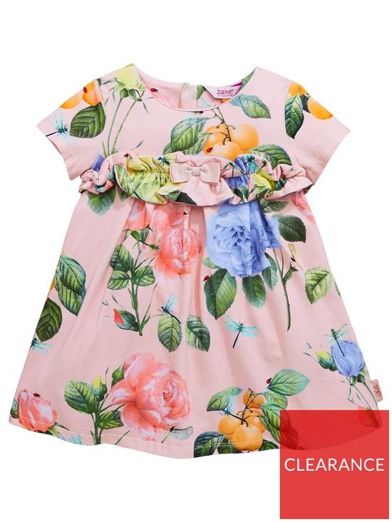 6ab536855aec Baker by Ted Baker Toddler Girls Rose Ruffle Jersey Dress - Light Pink