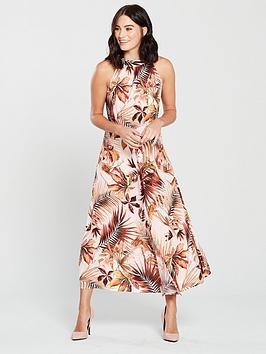 mango-vintage-floral-print-halter-neck-midi-dress-natural
