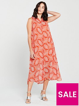 mango-bengala-paisley-maxi-dress-orange
