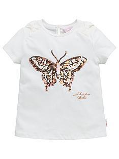 dc7d1c08fe4a1 Baker by Ted Baker Girls Butterfly Short Sleeve Tshirt