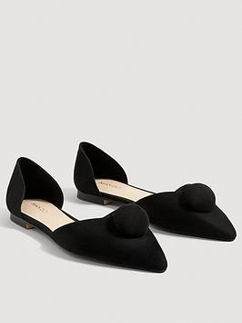 Mango Pompom Front Shoe