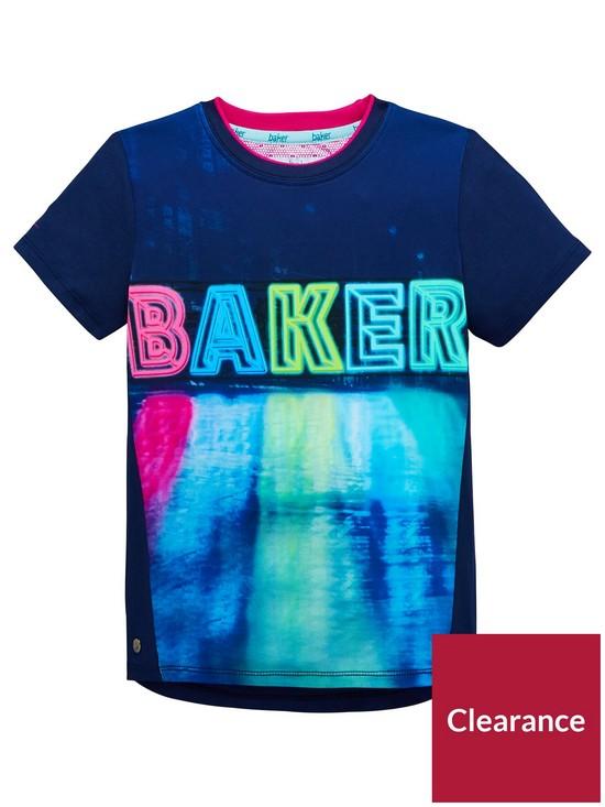 a4985452146d5e Baker by Ted Baker Boys Reflective Logo Tee