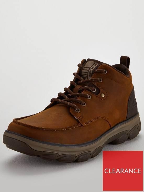 9703733820e61 Skechers Moc Toe Leather Lace Up Boots - Brown