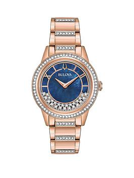 bulova-bulova-navy-dial-with-crystal-slider-and-rose-gold-stainless-steel-bracelet-ladies-watch