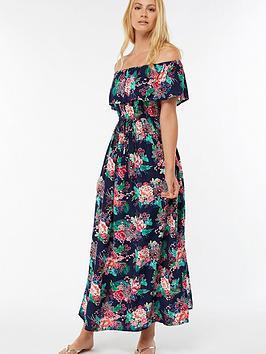accessorize-dreamweaver-frill-bardot-maxi-dress-printednbsp