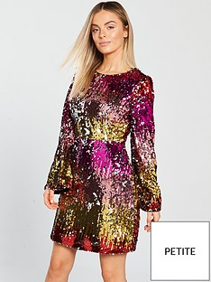 v-by-very-petite-round-neck-sequin-a-line-dress-multi