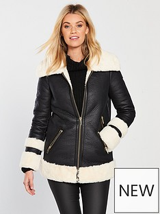 v-by-very-luxe-shearling-coat-blackcream