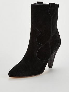 Kg Token Suede Calf Boots - Black