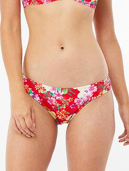 Accessorize Accessorize Hothouse Tropical Ruched Brief