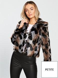 v-by-very-petite-leopard-faux-fur-coat-multi
