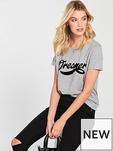 v-by-very-dreamer-flocked-tshirt