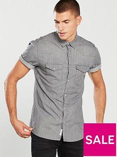 river-island-short-sleeve-grey-denim-shirt