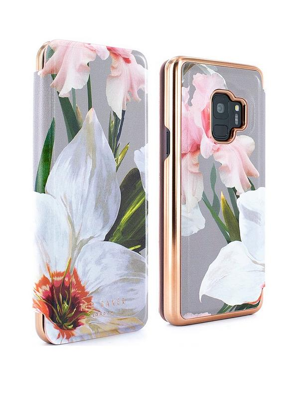 competitive price d513f a549c Ted Baker Mirror Folio Case (Samsung Galaxy S9) ¿ Chatsworth Bloom - MID  GREY