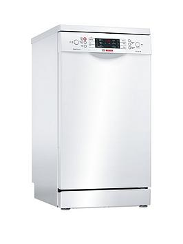 Bosch Serie 6 Sps66Tw00G 10-Place Settings Slimline Dishwasher With Supersilence - White