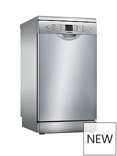 Bosch Serie 4 SPS46II00G 9-Place Settings Slimline Dishwasher with ActiveWater™ Technology - Silver Inox Best Price, Cheapest Prices