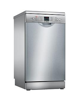 Bosch Serie 4 Sps46Ii00G 9-Place Settings Slimline Dishwasher With Activewater&Trade; Technology - Silver Inox