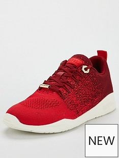 carvela-lolita-fabric-trainer-red