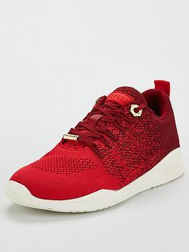 carvela-lolita-fabric-trainer-red