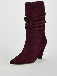 carvela-scrunch-wine-suede-calf-boot
