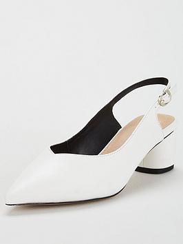 Kg Cecily Mid Block Heeled Slingback Shoe - White