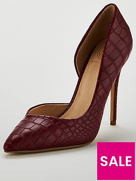 kg-alexandra-croc-heeled-court-shoe-red
