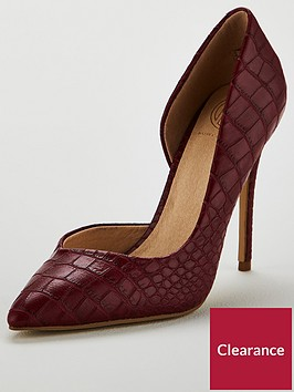 kg-alexandra-croc-heeled-court-shoe-red
