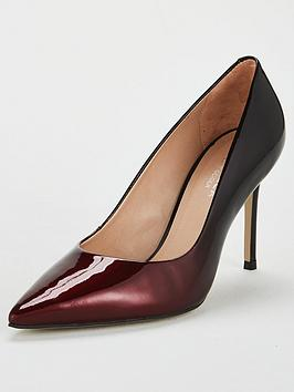 Carvela Alison Patent Heeled Court Shoe - Wine