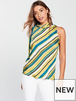 v-by-very-stripe-high-neck-top