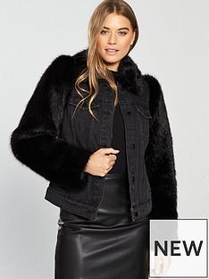 v-by-very-faux-fur-sleeve-denim-jacket-blacknbsp