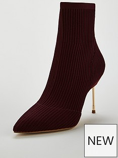 kurt-geiger-london-kurt-geiger-london-barbican-wine-fabric-knit-ankle-boot
