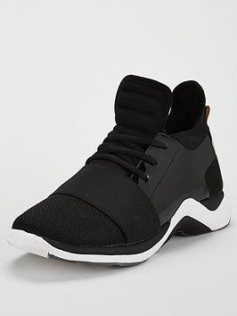 kurt-geiger-london-linfordnbsplow-top-trainer-black