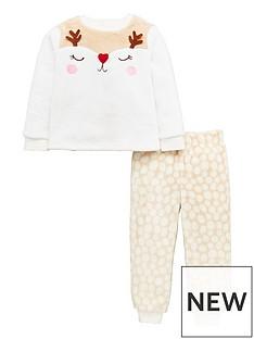 mini-v-by-very-girls-reindeer-christmas-twosie-pyjamas