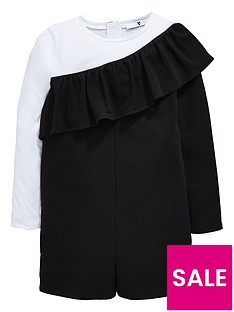 v-by-very-girls-frill-black-amp-white-playsuit