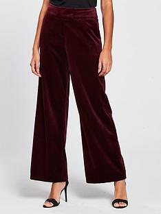 v-by-very-velvet-wide-leg-trouser-burgundy