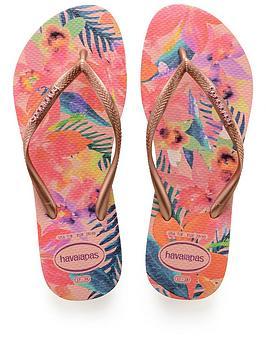 Havaianas Slim Tropical Rose Flip Flop