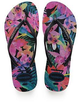 Havaianas Slim Tropicalblack Flip Flop
