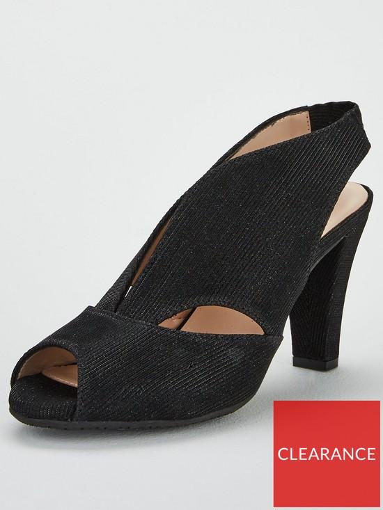 6053b20ed4 Carvela Arabella Suede Heeled Sandals - Black | very.co.uk