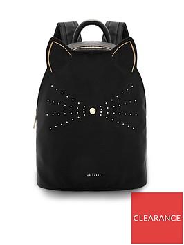 ted-baker-kattnbspnylon-cat-backpack-black