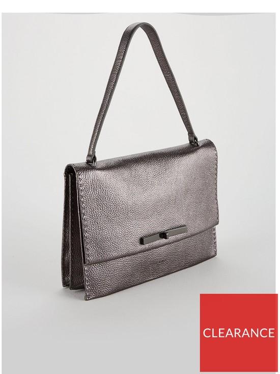 5832dc153b3d ... Ted Baker Jessi Concertina Leather Shoulder Bag - Gunmetal. View larger