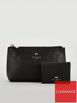 ted-baker-ted-baker-fabiana-black-bow-washbag-and-mirror-set