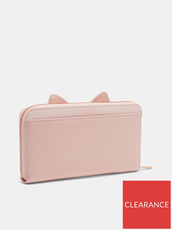 779383763fe433 ... Ted Baker Serini Cats Whiskers Zip Matinee Purse - Light Pink. View  larger