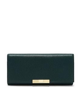 ted-baker-devyn-textured-flap-matinee-purse-dark-green