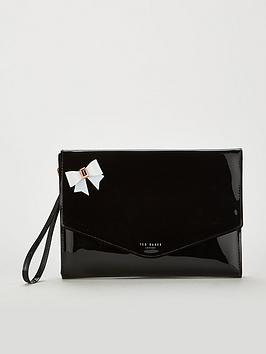 ted-baker-esther-bow-envelope-pouch-blacknbsp