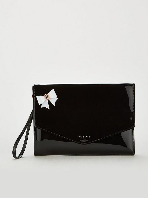 48e0d9f5fe Ted Baker Esther Bow Envelope Pouch - Black