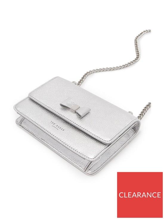 0c1b2e3afd7b4 Ted Baker Ted Baker Drayaa Bow Detail Micro Metallic Crossbody Bag ...