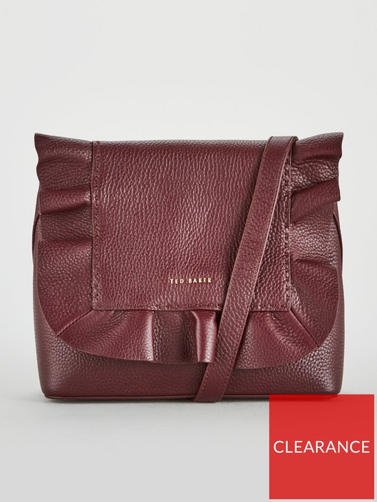 65dfea98f659 Ted Baker Ted Baker Rammira Leather Ruffle Backpack