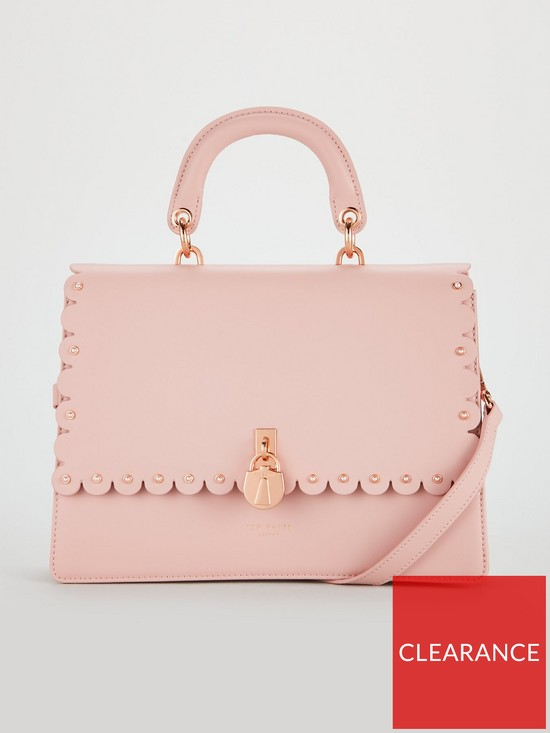 3bf910ec2bb062 Ted Baker Harriet Scalloped Padlock Shoulder Bag - Light Pink