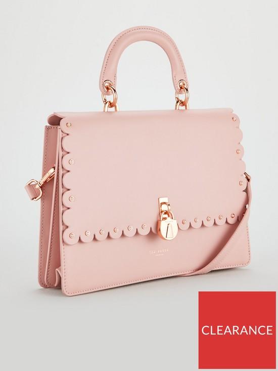 f6d0386186a43d ... Ted Baker Harriet Scalloped Padlock Shoulder Bag - Light Pink. View  larger