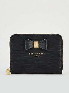 ted-baker-aureole-textured-small-zip-purse-black